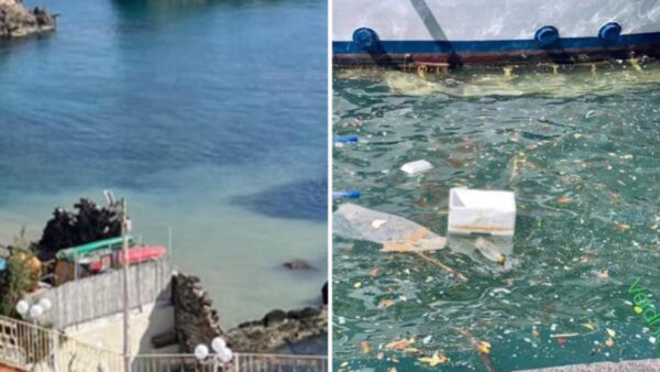 ischia rifiuti mare