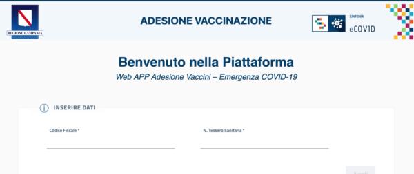 vaccini campania sito