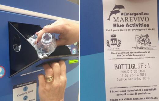 procida ricicli bottiglie plastica buono sconto