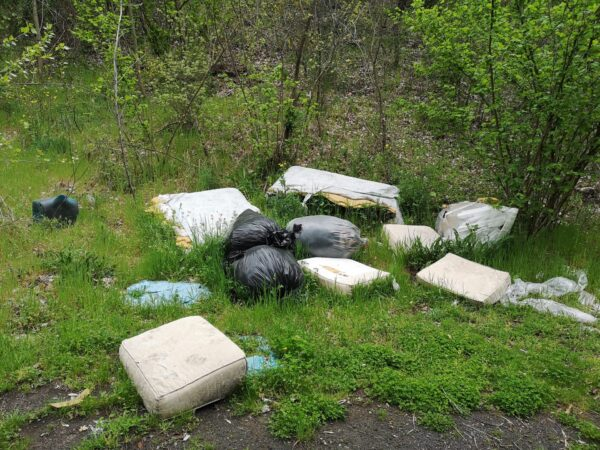 Il lockdown non scoraggia gli incivili: il Vesuvio imbrattato dai rifiuti