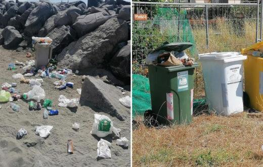 spiaggia delle monache napoli spazzatura