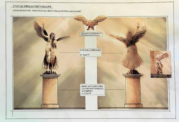 statua sirena parthenope pizzofalcone monte echia
