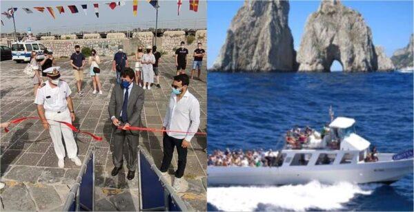 traghetto portici capri