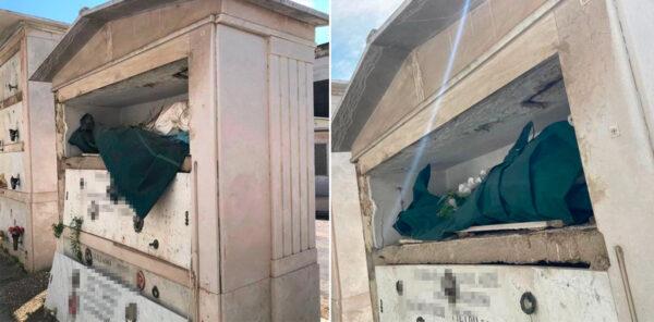 morti scoperti cimitero pianto napoli