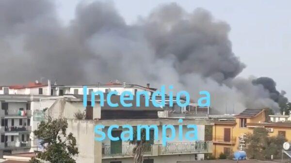 incendio scampia