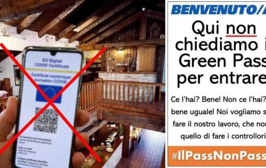 no green pass lista ristoranti