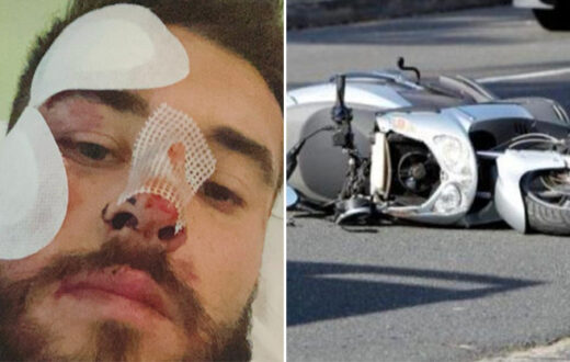 ferdinando incidente scooter autostrada