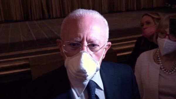 """De Luca: """"Dopo i conflitti del passato oggi apprezzo Di Maio"""""""